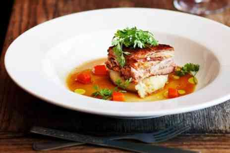 The Angel Sudbury - Two course meal & bubbly for 2 at cosy Suffolk pub - Save 56%