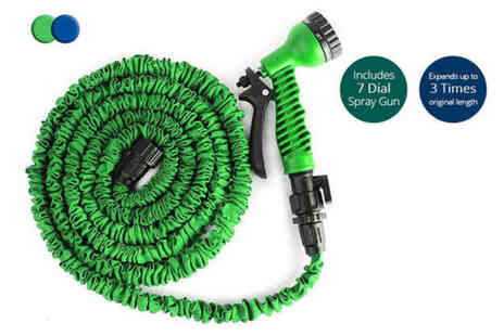 Black Feather - 75ft, 100ft, 150ft or 200ft magic expanding hose - Save 73%
