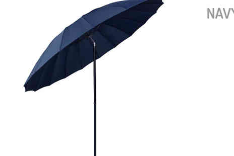 XS Stock - 2.5m Tilting Parasol Umbrella Choose 4 Colours - Save 65%