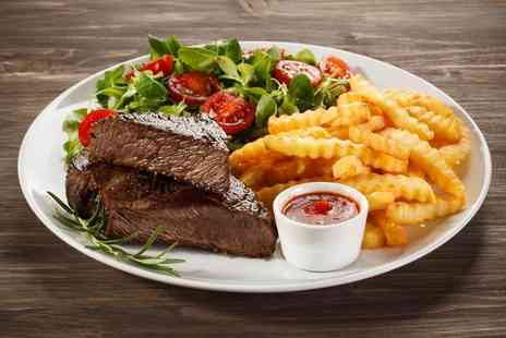 Blue Eyed Maid - Steak dinner with a bottle of wine for two people - Save 70%