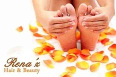 Renaz Hair & Beauty - Gelish Manicure and Pedicure - Save 50%