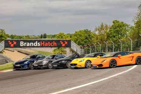 Supercar Drive Days - Brands Hatch Evening Experience, Supercar Drive with High Speed Passenger Ride on 26 July or 22 August  - Save 48%