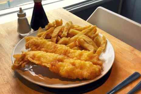 Silver Leaf Fish & Chips - Haddock Supper for Two or Four - Save 0%
