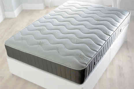 Beds 24hr - Aloe Vera quilted spring mattress choose from five sizes - Save 85%