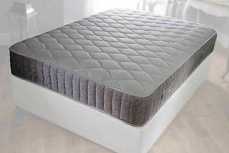 Beds 24hr - Grey border memory spring mattress - Save 82%