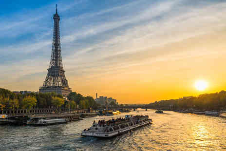 Short Break - One, two or three night Paris stay with breakfast, river cruise and Eurostar ticket, with Eiffel Tower lunch included - Save 32%