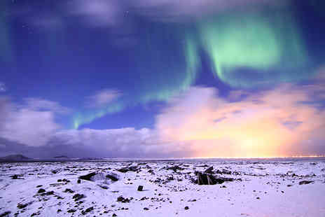 Book It Now Holidays - Two night Iceland break with a Northern Lights tour, breakfast and flights - Save 46%