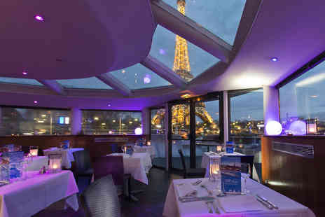 VIP Paris Yacht Hotel - Four Star A Glitzy Boat Hotel Stay For Two on the River Seine - Save 50%