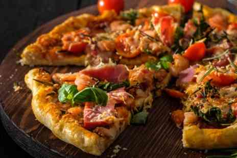 Funkys Bar and Grill Llandudno - Large Pizza or Burger with Wine, Beer or Cocktail for Two or Four - Save 44%