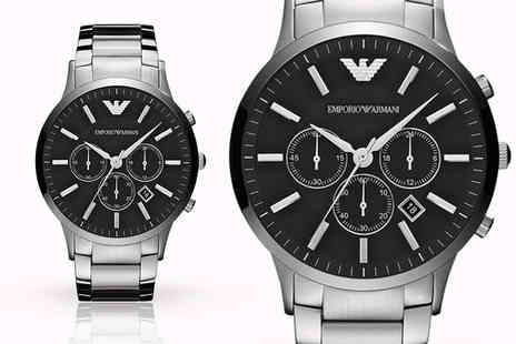 Cheap Designer Watches - Mens Emporio Armani AR2460 stainless steel watch - Save 66%