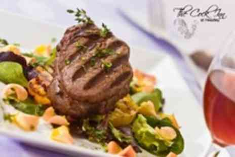 The Cock Inn - Rump Steak Dinner For Two With Glass of Wine Each - Save 52%