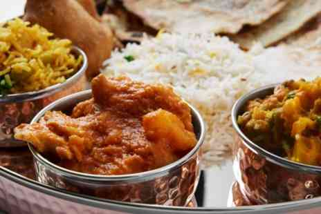 Indian Sizzler - Two Course Indian Meal with Rice for Two or Four - Save 53%