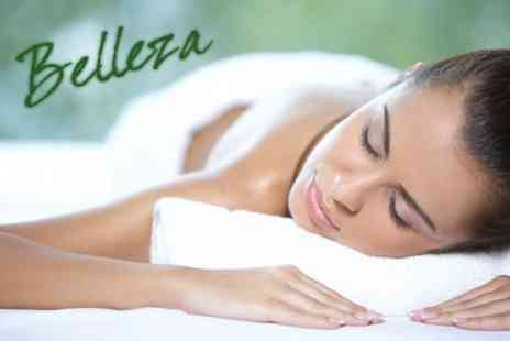 Belleza Spa - Choice of Hot Stone Therapy, Aromatherapy or Swedish Massage plus Deep Cleansing Facial - Save 73%