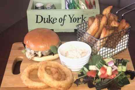 The Duke Of York - Two Course Meal with Optional Wine or Beer for Two or Four - Save 40%
