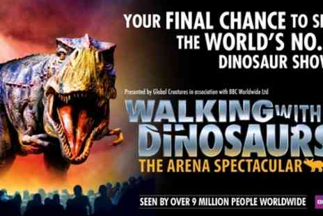 The Arena Spectacular - One price level 2 or 3 ticket to Walking With Dinosaurs The Arena Spectacular on 31 July To 30 December - Save 51%