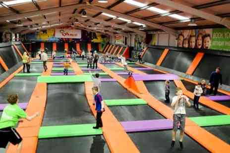 Bounce Central - One Hour Trampoline Session for Up to Four - Save 33%