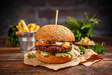 The Peppercorn Bistro - Gourmet steak burger with fries and a drink for two people - Save 48%