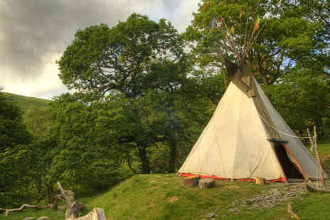 Eco Retreats - Glamping break in Wales,  two nights in a luxury tipi or yurt, plus mead wine and marshmallows - Save 52%
