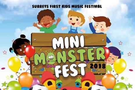 Kix Magazine - Ticket for one adult and two children to the Mini Monster childrens music festival - Save 55%