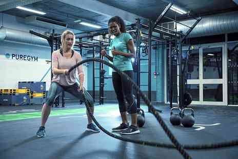 Pure Gym Ltd - One month gym membership - Save 87%
