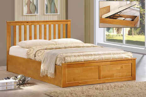 DUREST BEDS - Alaska ottoman bed choose from two colours and optional mattress - Save 68%