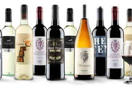 Virgin Wines Online - 10 bottles of wine & pair of crystal glasses - Save 66%