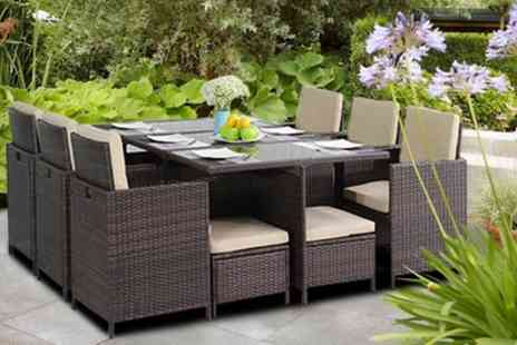 Groupon Goods Global GmbH - Davis and Grant 9 or 11 Piece Rattan Effect Furniture Set With Free Delivery - Save 0%