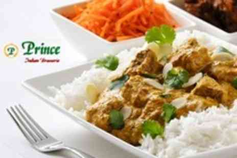 Prince Indian Brasserie - Two Course Indian Meal With Wine For Two - Save 43%