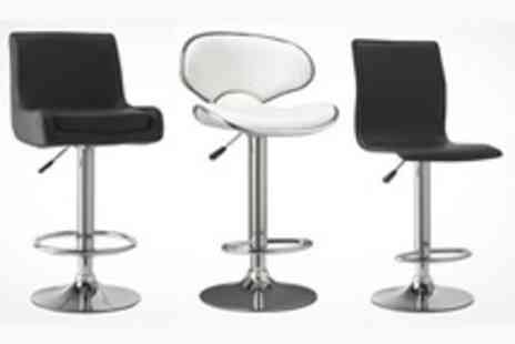 Veebos - Two Bar Stools in Choice of Six Designs - Save 55%