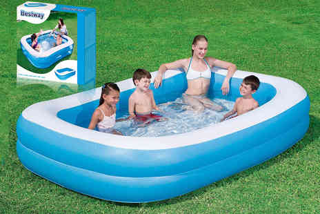 Zoozio - 79 inch Bestway two ring inflatable family pool - Save 40%