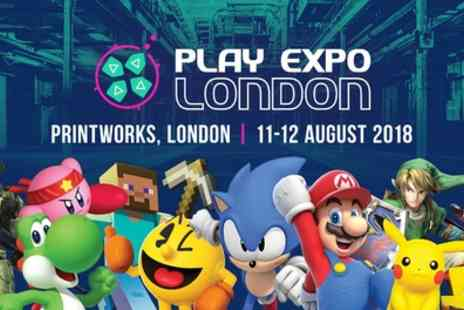 Replay Events - One Saturday or Sunday child or adult ticket to Play Expo London 2018 on 11 To 12 August - Save 40%