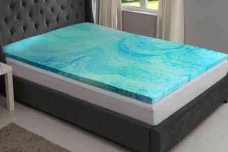 Groupon Goods Global GmbH - Gel Infused Memory Foam Mattress Topper with Optional Cover - Save 58%