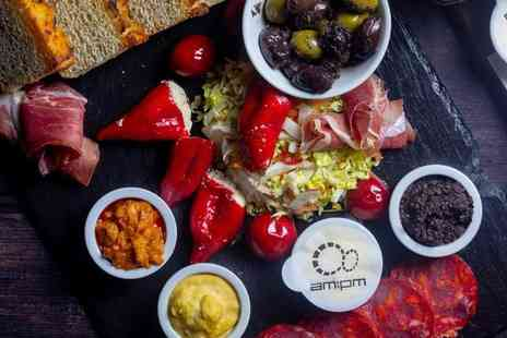 AMPM Restaurant - Sharing charcuterie board and bottle of wine to share for two - Save 32%