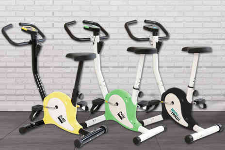 Games & Fitness - Compact exercise bike choose from three colours - Save 0%