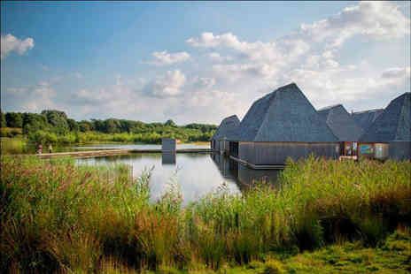 Brockholes Nature Reserve - Cake on the Lake luxury afternoon tea for two with a glass of bubbly each - Save 44%