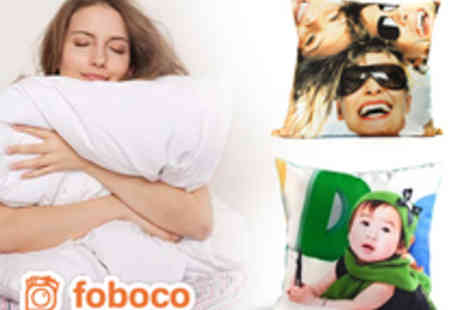 Foboco - Personalised 40cm x 40cm Pillow Case Printed With Your Own Photos or Design - Save 70%