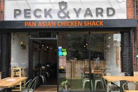 Peck and Yard - Chicken Feast with Two Sides and Wine or Beer for Two or Four - Save 46%