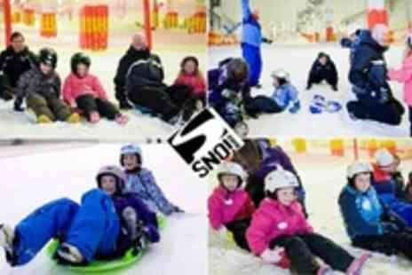 SNO!zone - Sledging session with clothing hire and gloves - Save 40%
