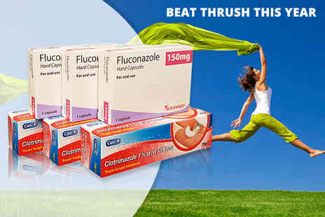 Pharmacy First - Triple pack of thrush treatment capsules or cream - Save 77%