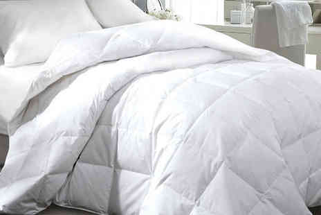 E Home Store - 15 tog goose feather single, double, king or super king size duvet - Save 55%