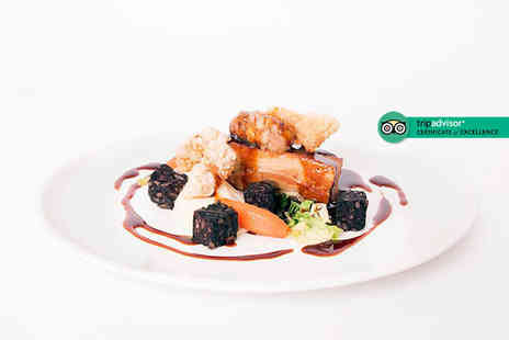 Oak Royal Hotel - Three course dining for two people with a bottle of wine to share - Save 55%