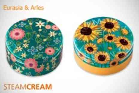 Steam Cream - Set of 2 all in one moisturiser tins in a choice of designs as featured - Save 61%