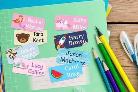 Deco Matters - 48 kids personalised labels - Save 67%
