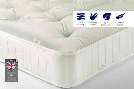 Giomani Designs - Sleep sweet soft touch memory sprung mattress choose from two sizes - Save 88%