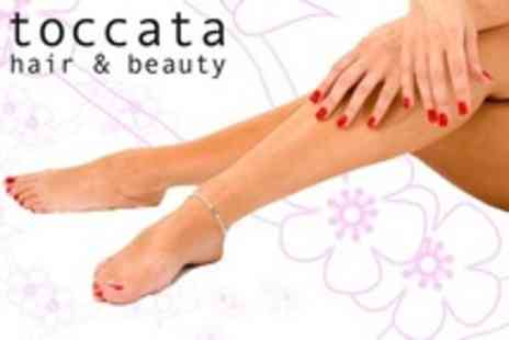 Toccata Hair & Beauty - Gelish Manicure or Pedicure Plus Fake Bake Spray Tan or Half Leg and Bikini Wax - Save 62%