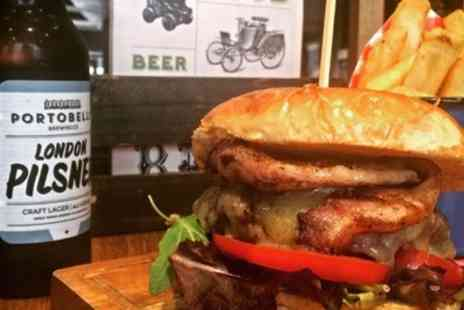 Brass Monkey - Burger, Chips and Bottle of Beer for One or Two - Save 34%