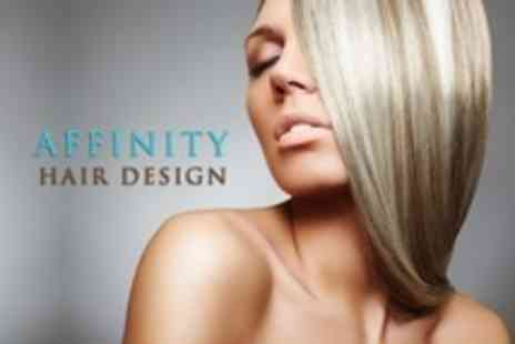 Affinity Hair Design - Half Head Highlights or Full Head Colour With Cut, Condition and Blow Dry  - Save 71%