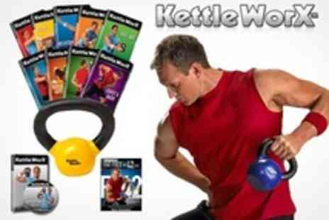 KettleWorx - Ultra 5 Workout DVD Pack Plus 15lb Kettlebell  - Save 46%
