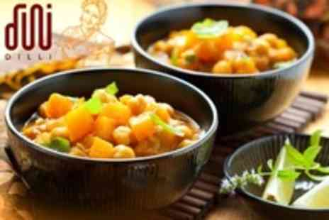 Dilli - Two Course Indian Meal For Two With Sides and Drinks- Save 50%