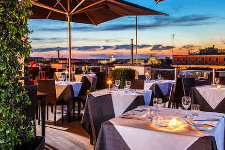 La Griffe Roma - Five Star Rooftop City Views from a Luxury Design Hotel Stay For Two - Save 80%
